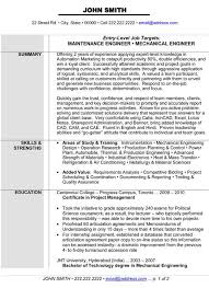 Certified Mechanical Engineer Sample Resume 17 Reliability 20 Ideas