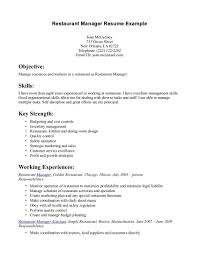 Server Resume Objective Literarywondrous Food Server Resume Objective Template Examples 29