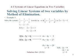 solving system of equations substitution solve linear equation by elimination math brilliant ideas of solving systems solving system of equations