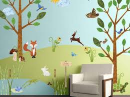 grey forest wall decals animal canada