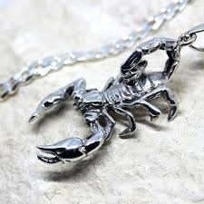 sterling silver scorpion necklace