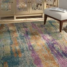 bungalow rose esparza contemporary blue fuchsia area rug direct from wayfair