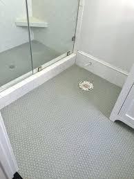 penny tile shower floor creative bathroom luxury white pe penny tile floor