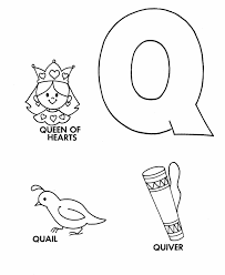 Small Picture ABC Primary Coloring Activity Sheet Letter Q is for Queen