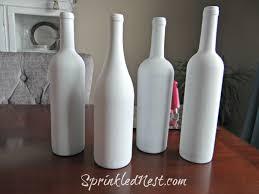 Embellished Upcycled Wine Bottles Sprinkled Nest