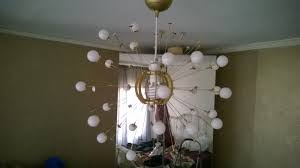 easy affordable fun diy sputnik chandelier ikea ers
