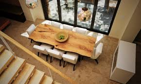 luxury live edge dining room table in interior design rdining reclaimed wood beebeegrace uk canada toronto