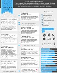 Creative Marketing Resumes How Why I Put Together My Infographic Resume Caerley Hill 16