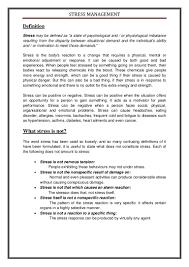 Stress Essay Examples Under Fontanacountryinn Com