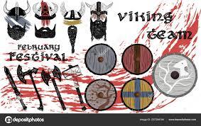 Face War Paint Designs Viking Face Paint Vector Ilustration Hand Drawn Black