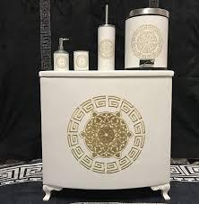 Medusa Badezimmer Sehr 5 Teilig Bad Set Wäschekorbseifenspender
