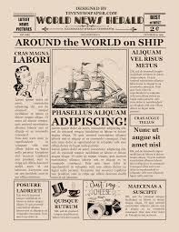 Old Fashioned Newspaper Article Template Blank Old Newspaper Template