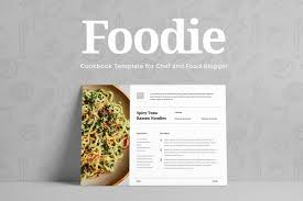 Eye Catching Editable Recipe Template For Word Cookbook