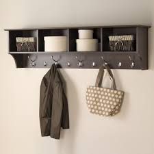 Wall Coat Rack With Storage Prepac 100 in WallMounted Coat Rack in EspressoEEC10016 The Home 20