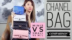 Which one? CHANEL <b>FLAP BAG</b> COMPARISON - <b>Mini</b> vs <b>Small</b> vs ...