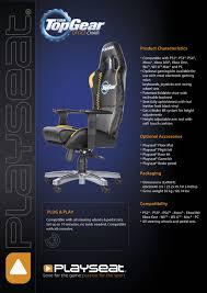 playseat office chair topgear info sheet