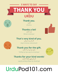 How To Say Thank You In Urdu Urdupod101