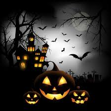 halloween pictures to download spooky halloween background with pumpkins in a cemetery vector