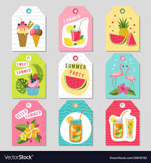 Summer Gift Tags Gift Tags With Summer Tropical Decoration