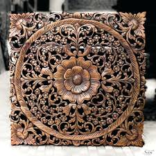 wood carved wall art traditional fl wood carved wall hanging from carved wood wall art modern