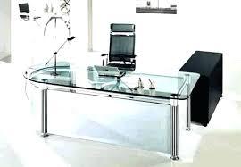Modern glass office desk Ultra Modern Modern Black Desk Long Glass Desk Office Desk Modern Glass Office Desks Black Desk Modern Glass Modern Black Desk Homesquareinfo Modern Black Desk Elegant Black Desk Pertaining To Modern Computer