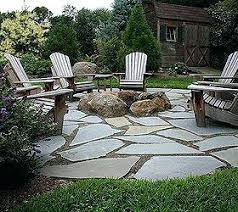 Ideas Fire Pit Patio For Natural Flagstone Patio Amp Fire Pit
