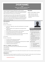 Modern Technical Skills For Resume Typist Resume Templates For Ms Word Word Excel Templates