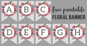 Floral Alphabet Banner Letters Free Printable Paper Trail Design