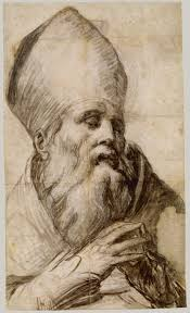 renaissance drawings material and function essay heilbrunn bishop saint in bust length cartoon for an altarpiece