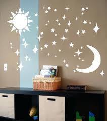 remarkable sun and moon nursery w0401193 sun moon stars vinyl wall art decal sticker by on on stars vinyl wall art with remarkable sun and moon nursery w0401193 sun moon stars vinyl wall