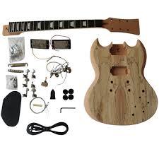 gd510 coban guitars diy electric guitar kit mahogany spalted veneer