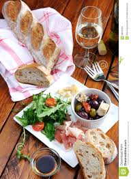 Italian Table Setting Rustic Table Setting With Food Stock Photo Image 58042564