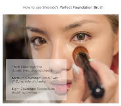 how to use shiseido perfect foundation brush