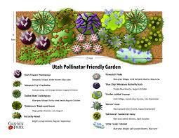 Landscape Pre Planned Garden Designs Utah Friendly Pollinator Garden Utah Gardening Garden
