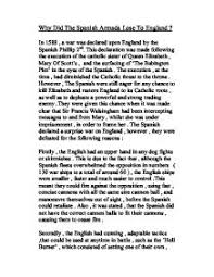 essays spanish words for essays example essay words george orwell  why the spanish armada lost gcse history marked by teachers com page 1 zoom in