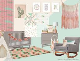 this crib bedding collection features tees and dream catchers cow skulls and arrows all tied together for the perfect boho nursery