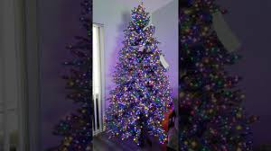 Christmas Tree With Changing Lights Artificial Lighted Christmas Trees With Led Lights Pogot
