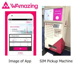 Kansai Airport Sim Card Vending Machine New Foreigners Visiting Japan Can Receive Free SIM Card At Kansai