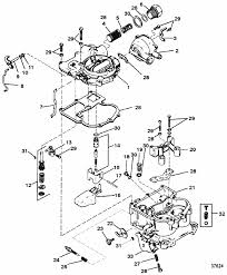 mercruiser 260 gm 350 v 8 1987 carburetor mercarb 2 barrel parts engine section