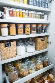 pantry storage solutions. Organised Pantry Using Clever Storage Solutions Such As Baskets Jars And Clear Containers Intended