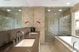 Beautiful Modern Master Bathroom Shower  Modern Bathroom Wood - Bathroom remodel dallas