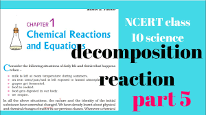 ncert class 10 science chapter 1 chemical reaction and equation part 5