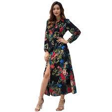 Designer Long Midi Dresses Women Designer Maxi Dresses Clothes Dresses Sexy Short Dress Women Jumpsuits Rompers Spring New Long Sleeve Bohemian Print Midi Dress