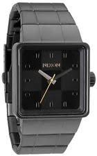 mens nixon watches gunmetal nixon the quatro gunmetal ion plated mens watch a013680
