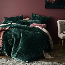 emerald green linen duvet cover quilt sets excellent home concept velvet with thin square blanket also