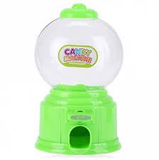 Vending Machine Piggy Bank Best Green Cute Mini Candy Gumball Dispenser Vending Machine Saving Coin