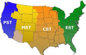 Pst To Est Chart Usa Time Zones Map Of America With Area Codes Picture