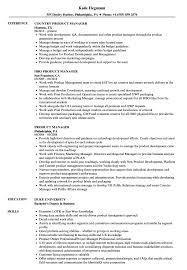 Product Manager Resume Samples Velvet Jobs