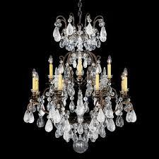 schonbek renaissance 13 light rock crystal chandelier