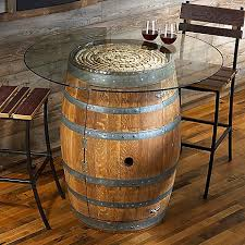 oak wine barrel barrels whiskey. reclaimed wine barrel pub table with glass top oak barrels whiskey e